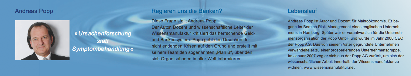 popp regieren uns die banken - Andreas Popp Lebenslauf